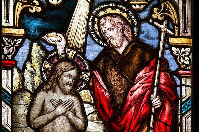 Kirchenfenster - Die Taufe Jesu